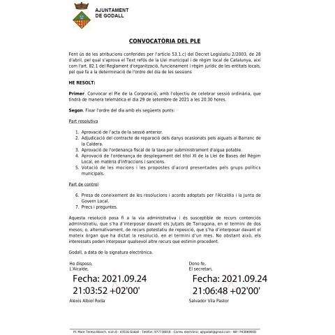 PROPOSTA PSC GODALL | #SUBVENCIONS PER PAGAR FACTURES LLUM MES D'AGOST 2021